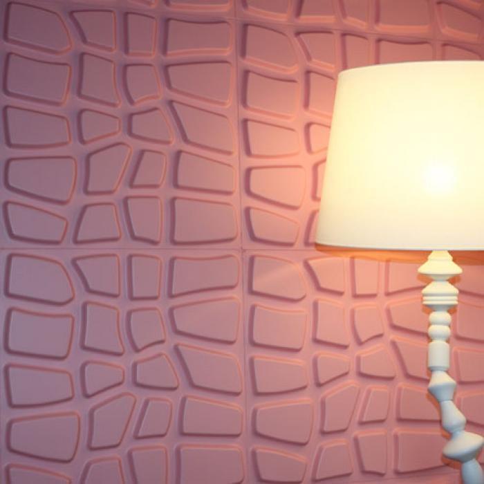 atraktive Wandgestaltung Design-Lampe