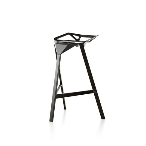 minimalistischer schwarze Barhocker