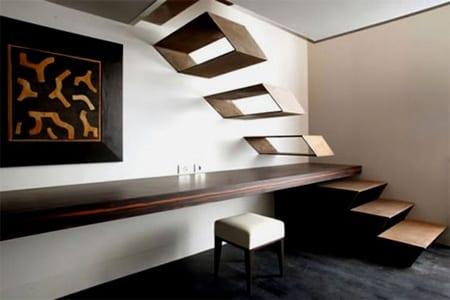 Designer Stahltreppe für Innenraum