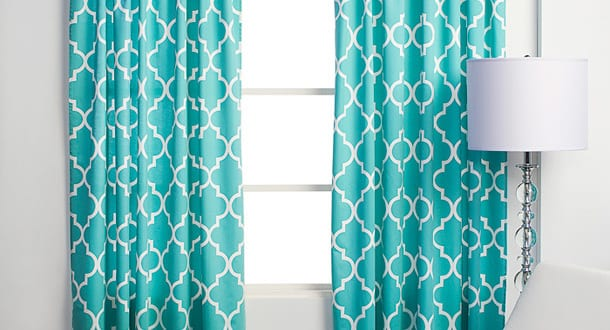 turquoise curtains freshouse. Black Bedroom Furniture Sets. Home Design Ideas