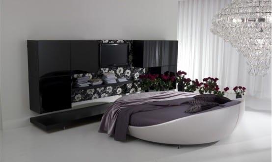 zeitgen ssische runde betten im schlafzimmer freshouse. Black Bedroom Furniture Sets. Home Design Ideas