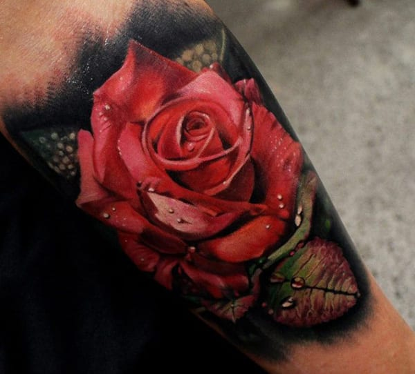 rose tattooidee-farbiges tattoo