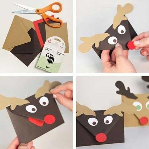 selbstgemachte Weihnachtskarte
