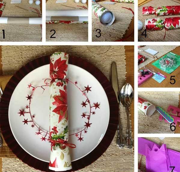 Weihnachtsgeschenkideen als Tischdeko