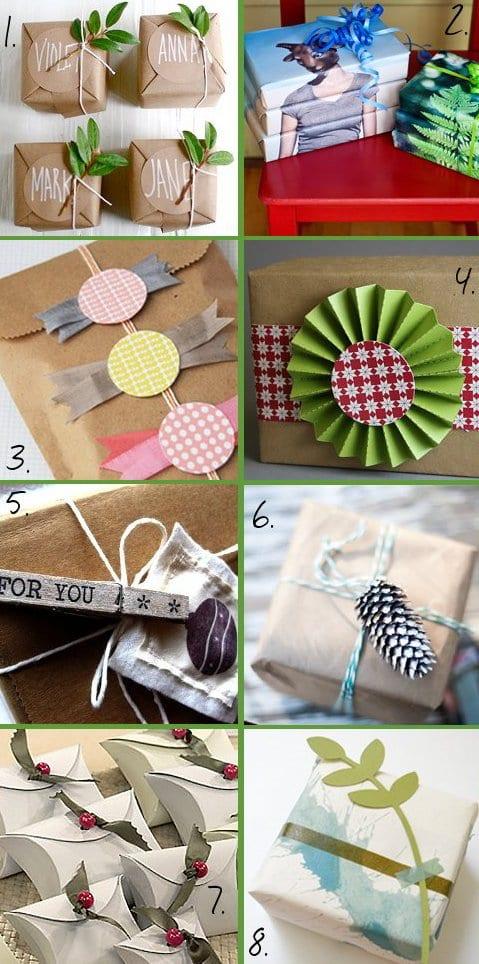 DIY weihnachtsverpakung für geschenke