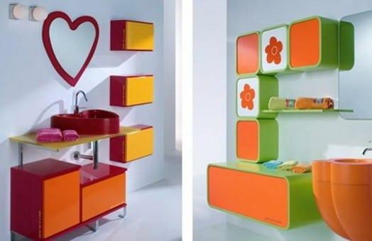 kindermöbel - badezimmer einrichtung mit badezimmerspiegel für kinder