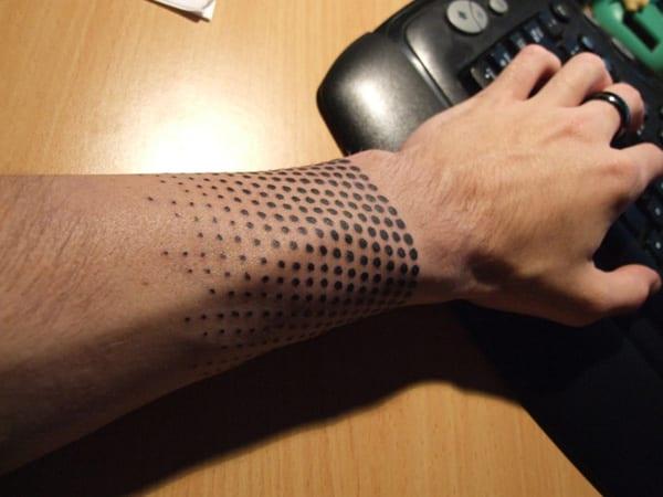 Unterarm tattooideen- punkte Tattoo