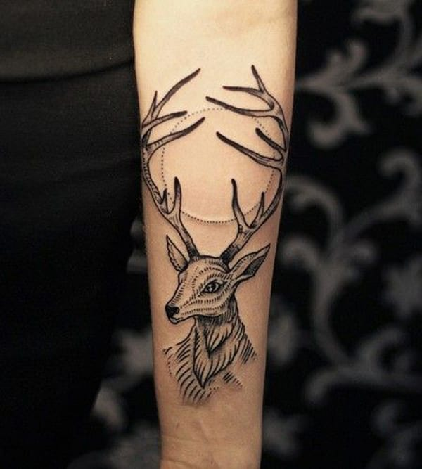 Unterarm Tattoidee-Tier Tattoo