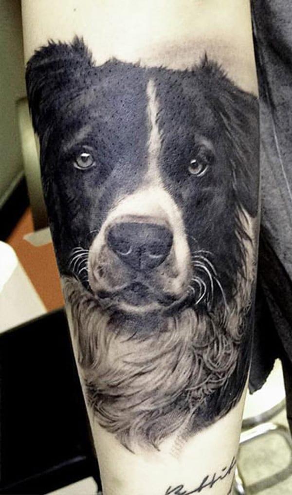 Tattoo-Hund Porträt