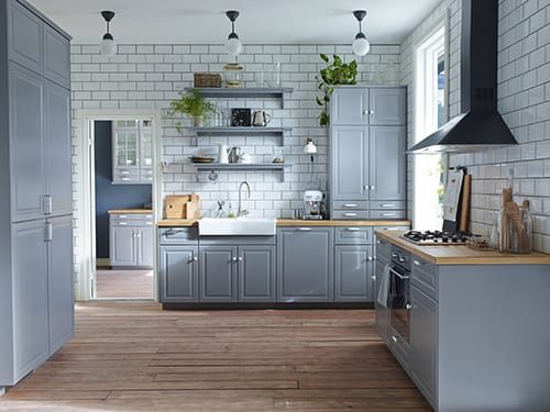 ideen fürs küche planen -Mauerwerk Wandfließen in weiss