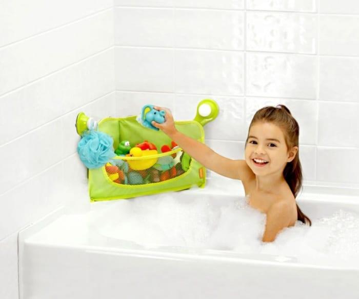 aufbewahrung von spielzeugen im badezimmer