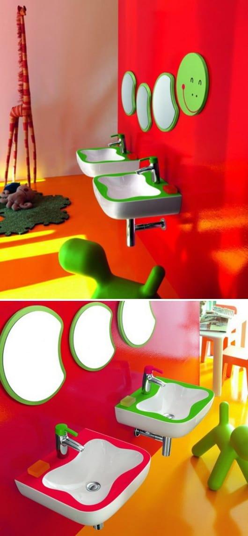 modernes kinder badezimmer - kinder wandspiegel