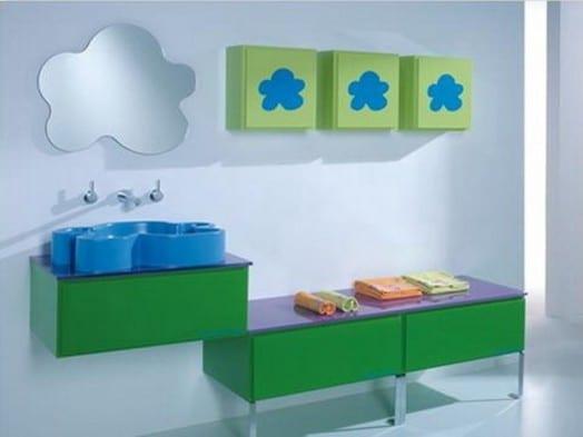 grüne kindermäbel fürs badezimmer- designer kinder waschtisch