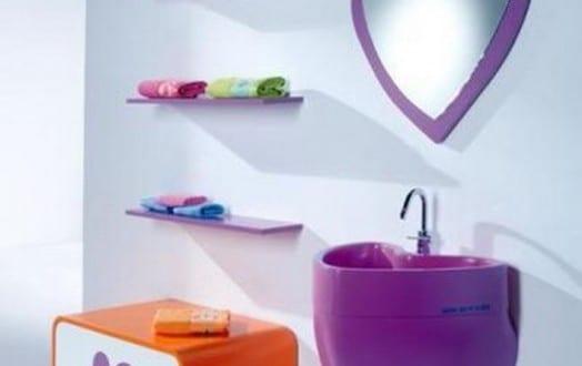 kinderm bel badezimmer in lila freshouse. Black Bedroom Furniture Sets. Home Design Ideas