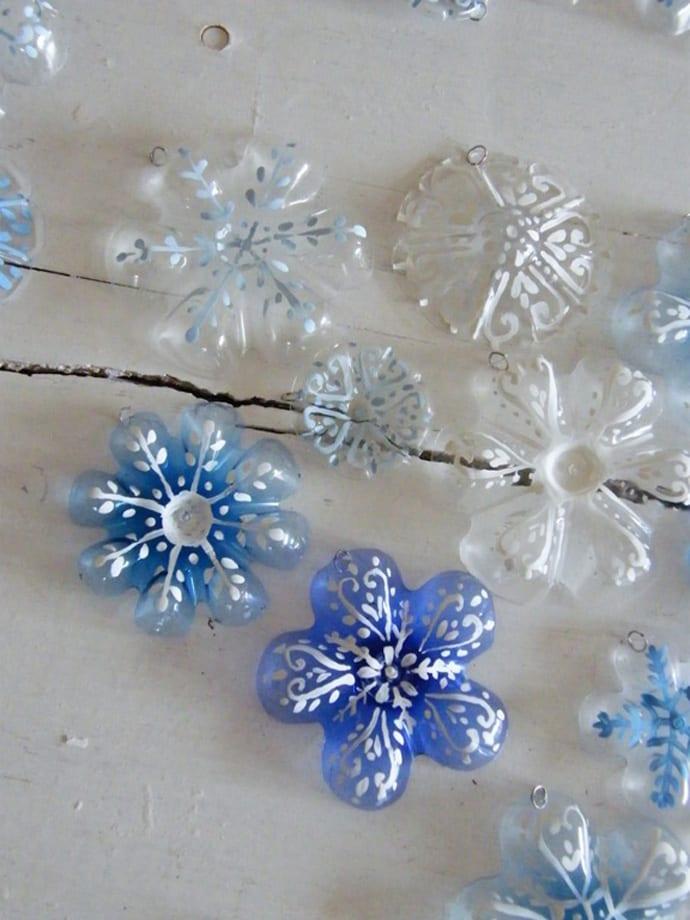 bastelnideen mit plastikflaschen fürs weihnachten