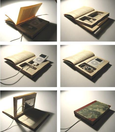 kreative ipod-behalter aus buch