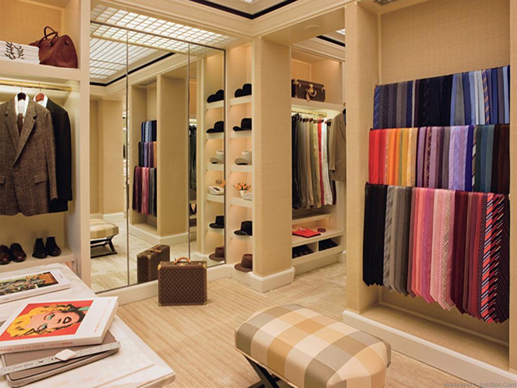 einrichtungsidee für ankleideraum-Aufbewahrung für Mützen und Krawaten