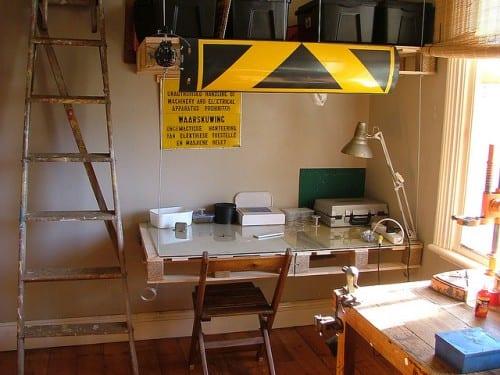 Möbel aus Europaletten- kreativer Arbeitstisch