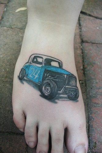 ideen für fuß tattoos