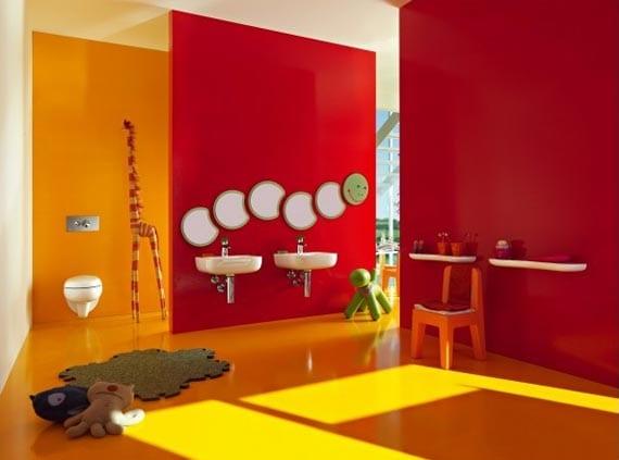 farbrausch schöner wohnen- badezimmer möbel für kinder-badezimmer streich ideen