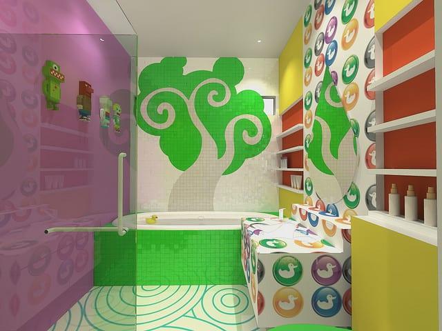 badezimmer Farbeinrichtung - wand streichen ideen fürs bad