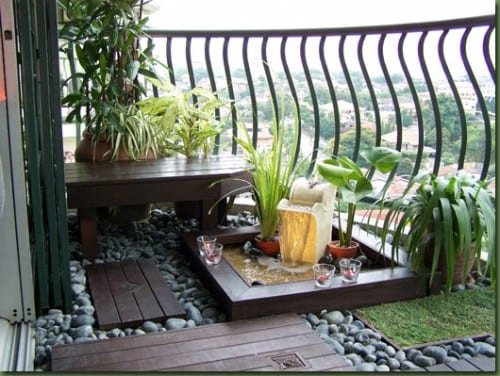Balkon Einrichtungsideen-Steingarten
