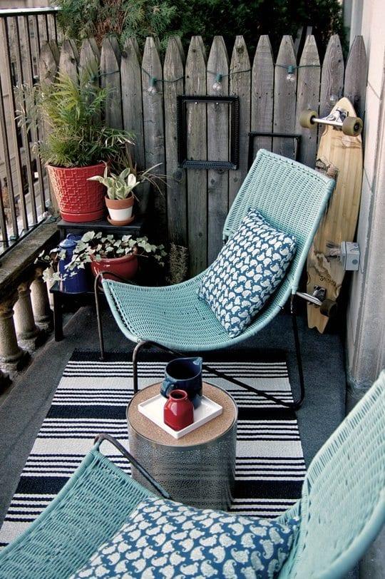 design ideen für kleine balkons