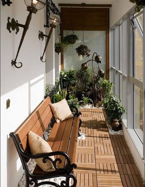 Balkon einrichtung - wintergarten auf dem balkon