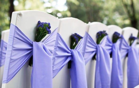 hochzeit deko in lila