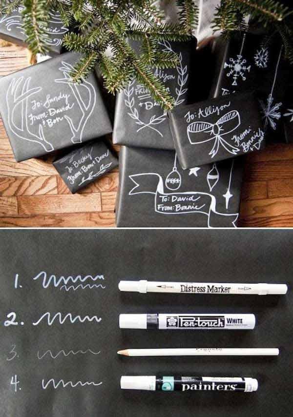 DIY Weihnachtsgeschenkideen für Verpakungen