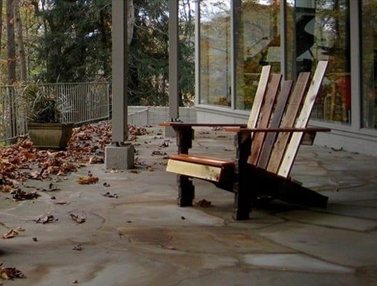 einzelartiger Sessel aus paletten
