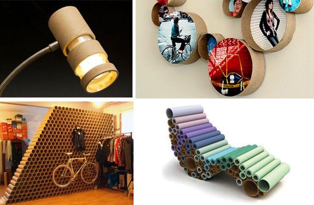 Pappröhren- kreative wohnideen