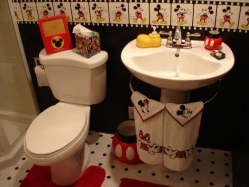 Badezimmer gestaltung mit miki maus