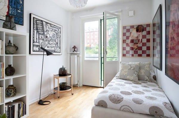 schlafzimmer mit ikea möbel