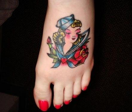 farbige tatoos