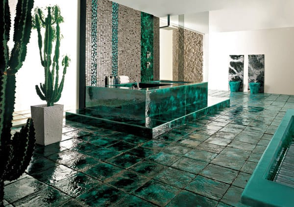 modernes badezimmer ideen- keramik fliessen badezimmer