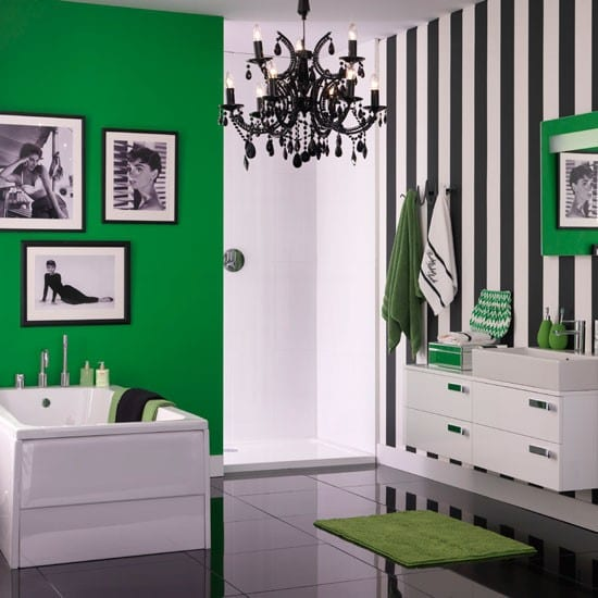 sch ner wohnen badezimmer farbenfrohe badezimmer ideen. Black Bedroom Furniture Sets. Home Design Ideas