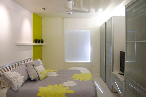 schlafzimmer gestaltung-grün im schlafzimmer