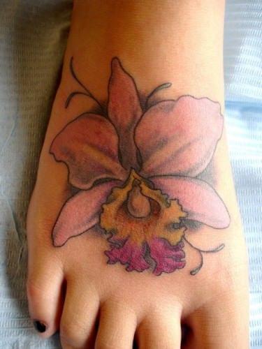orchidee tattoo
