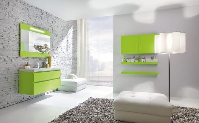 schöner wohnen badezimmer- moderne grüne badezimmermöbel