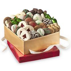 weihnachtsgeschenkidee mit keksen