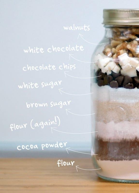 leckere Einweckglasgeschenk mit schokolade und kakao