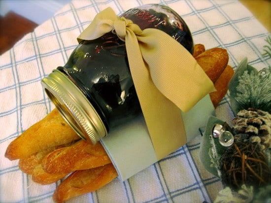 geschenke aus der küche- stangenbrot mit marmelade