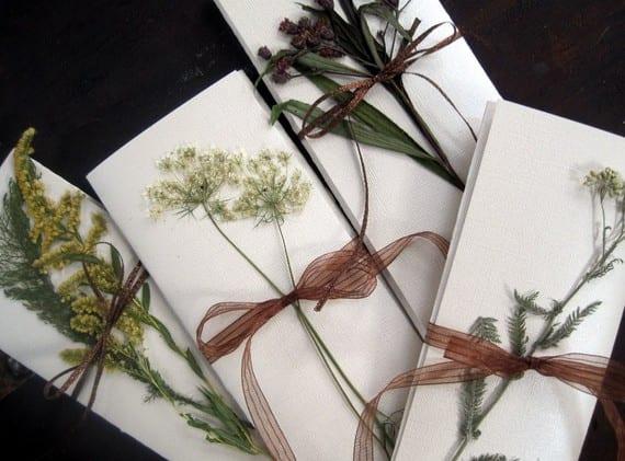 selbstgemachte gütscheinhülle-Herbarium gutschen