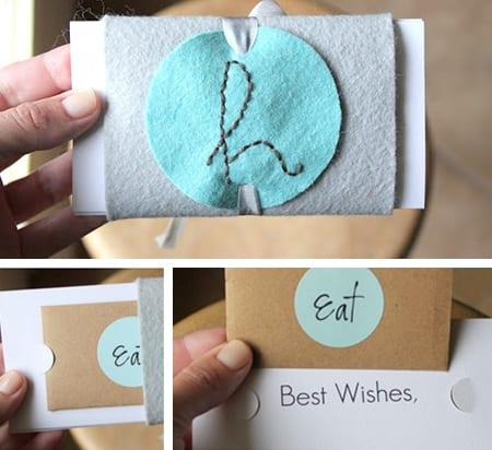 kreative idee für selbstemachten Geschenkgutschein