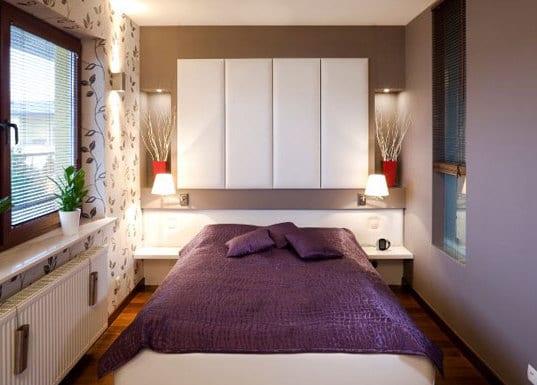 wandgestaltungsidee - kreative idee für kleines schlafzimmer einrichten