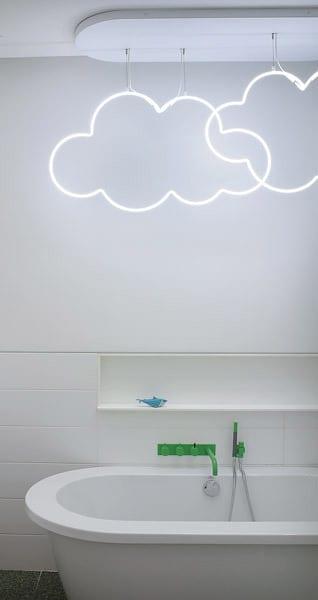 wolken-LED-Leuchte für kinder-badezimmer