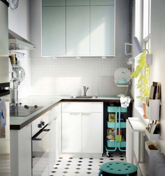 moderne küche in weiß von ikea