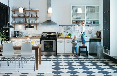 moderne küche planen-bodenfließen in der küche