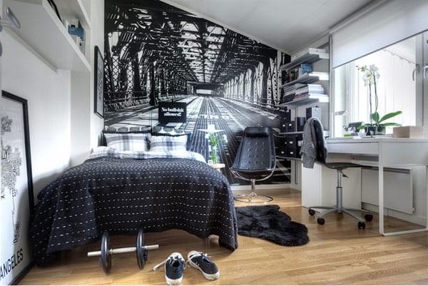kreative wandgestaltung fürs schlafzimmer